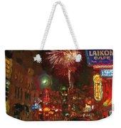 Greektown Night Weekender Tote Bag