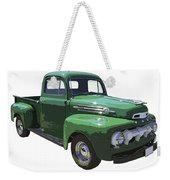 Green 1951 Ford F-1 Pick Up Truck Illustration  Weekender Tote Bag
