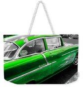 Green 1957 Chevy Weekender Tote Bag