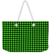 Green And Black Checkered Pattern Cloth Background Weekender Tote Bag