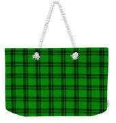 Green And Black  Plaid Cloth Background Weekender Tote Bag