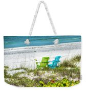 Green And Blue Chairs Weekender Tote Bag