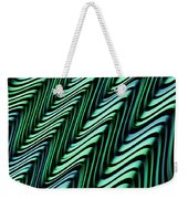 Green And Blue Folds Weekender Tote Bag