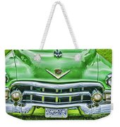 Green And Chrome-hdr Weekender Tote Bag