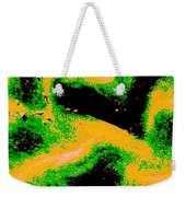 Green And Gold Pattern Abstract Weekender Tote Bag