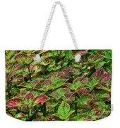 Green And Purple In Nature Weekender Tote Bag