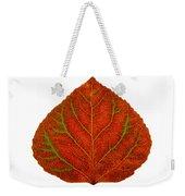 Green And Red Aspen Leaf 3 Weekender Tote Bag