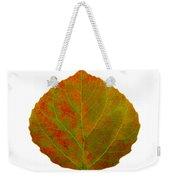Green And Red Aspen Leaf 5 Weekender Tote Bag