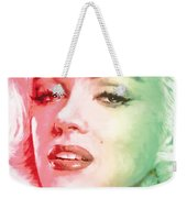 Green And Red Beauty Weekender Tote Bag