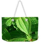 Green And Ruffled Weekender Tote Bag