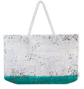 Green And White Wall Texture Weekender Tote Bag