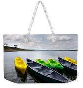 Green And Yellow Kayaks Weekender Tote Bag