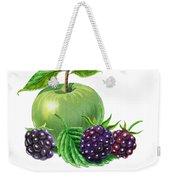 Green Apple With Blackberries Weekender Tote Bag