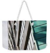 Green Architectural Detail Weekender Tote Bag