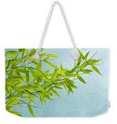 Green Bamboo Weekender Tote Bag by Priska Wettstein