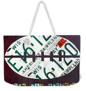 Green Bay Packers Football License Plate Art Weekender Tote Bag