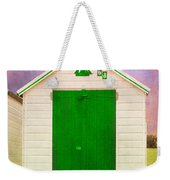 Green Beach Hut Weekender Tote Bag