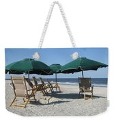 Green Beach Umbrellas Weekender Tote Bag