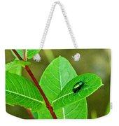 Green Beetle Foraging Weekender Tote Bag