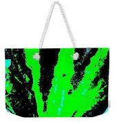 Green Blue Plant Abstract Weekender Tote Bag