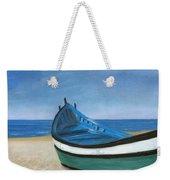 Green Boat Blue Skies Weekender Tote Bag