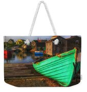 Green Boat Peggys Cove Weekender Tote Bag