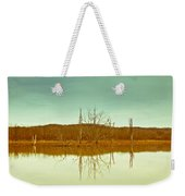 Green Bottom In Winter Weekender Tote Bag