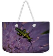 Green Bug Weekender Tote Bag