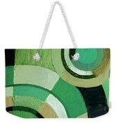Green Circle Abstract Weekender Tote Bag