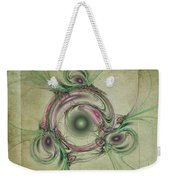Green Circles Weekender Tote Bag