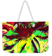 Green Clematis Flower Weekender Tote Bag