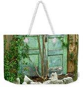 Green Cottage Doors Weekender Tote Bag