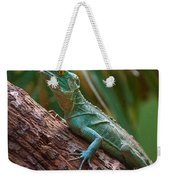 Green Crested Basilisk Weekender Tote Bag