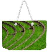 Green Curves And Steps Weekender Tote Bag