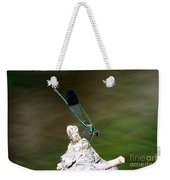 Green Damselfly  Weekender Tote Bag