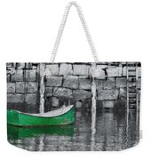 Green Dinghy Floating Weekender Tote Bag