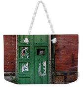 Green Door On Red Brick Wall Weekender Tote Bag