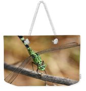Green Dragonfly Square Weekender Tote Bag