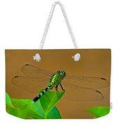 Green Dragonfly Weekender Tote Bag