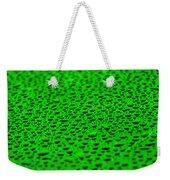 Green Drops On Water-repellent Surface Weekender Tote Bag