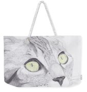 Green Eyed Cat Weekender Tote Bag