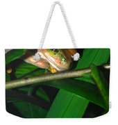 Green Eye'd Frog Weekender Tote Bag