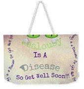 Green Eyes Of Jealousy  Weekender Tote Bag