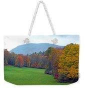 Green Field In The Fall Weekender Tote Bag