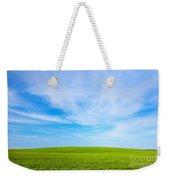 Green Field Landscape Weekender Tote Bag