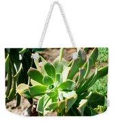Green Flower Weekender Tote Bag
