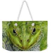 Green Frog Weekender Tote Bag by Matthias Hauser