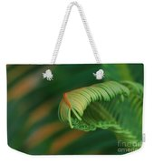 Green Frond  Abstract Weekender Tote Bag