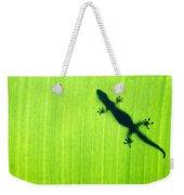 Green Gecko Leaf Weekender Tote Bag