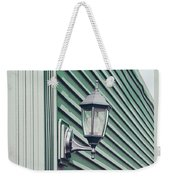 Green Geometry Weekender Tote Bag